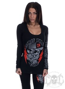 eXc Girls That Ride Deep Neck Hoody