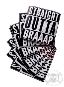 eXc Straight Outta Braaap Sticker 10X10cm