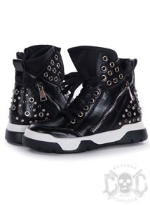 Studs High Shoes, Black